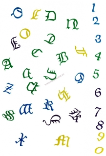 FMM Old English Alphabet a Number